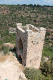 Guards Tower at Monfort Castle, Israel. Ruins of guards tower at Monfort castle, crusader castle in western Galilee, Israel Stock Photo