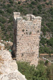 Guards Tower at Monfort Castle, Israel. Ruins of guards tower at Monfort castle, crusader castle in western Galilee, Israel Royalty Free Stock Photos