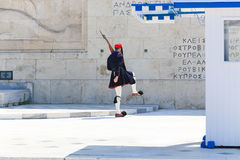 Guardsman near parliament in Athens, Greece Stock Photography