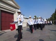 Guardsman parade in Grand Palace Stock Photography