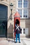 Guardsman on a post Stock Photos