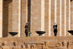 Guardsmen of Ataturk Tomb Stock Photography