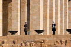 Guardsmen of Ataturk Tomb Stock Photography