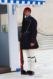 Guardsmen near parliament in Athens, Greece Royalty Free Stock Images