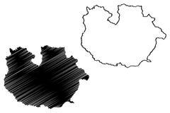 Guarico stanu mapy wektor ilustracji