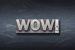 Guarida de la exclamación del wow imágenes de archivo libres de regalías