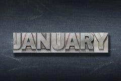 Guarida de la palabra de enero foto de archivo libre de regalías