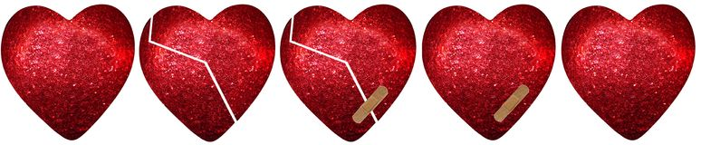 Guarigione di un cuore Fotografie Stock