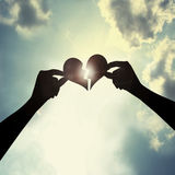 Guarisca un cuore rotto Fotografia Stock Libera da Diritti