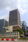 A guarnição do Pla Hong Kong sedia a construção Imagens de Stock