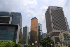 A guarnição do pla Hong Kong sedia a construção Fotos de Stock