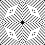 Guarnición geométrica del modelo inconsútil blanco y negro foto de archivo