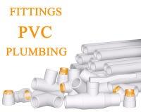 Guarniciones PVC y tubos fotos de archivo