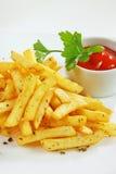 Guarnisca con le patatine fritte Fotografia Stock Libera da Diritti