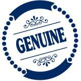 Guarnizione blu GENUINA Fotografia Stock