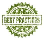 Guarnizione del bollo di BEST PRACTICE strutturata lerciume Royalty Illustrazione gratis