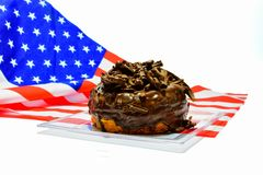 Guarnizione del cioccolato della ciambella Immagine Stock Libera da Diritti