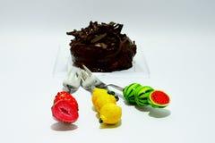 Guarnizione del cioccolato della ciambella immagine stock