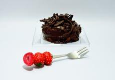 Guarnizione del cioccolato della ciambella immagini stock