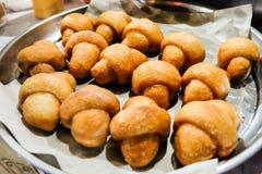 Guarnizione del panino di Fried Steamed con lo zucchero Fotografia Stock