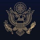 Guarnizione del passaporto degli Stati Uniti royalty illustrazione gratis