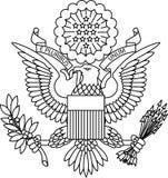Guarnizione del passaporto degli Stati Uniti fotografia stock