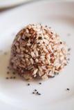 Guarnizione del riso sbramato della miscela con il sesamo nero Fotografie Stock