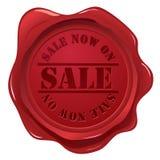 Guarnizione della cera con il bollo di vendita Fotografie Stock