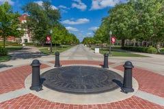 Guarnizione della città universitaria sulla città universitaria dell'università di Oklahoma Immagini Stock