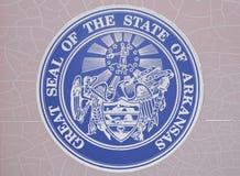 Guarnizione dello stato dell'Arkansas Fotografia Stock