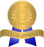Guarnizione di approvazione Fotografia Stock