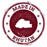 Guarnizione di vettore del Bhutan Immagine Stock Libera da Diritti