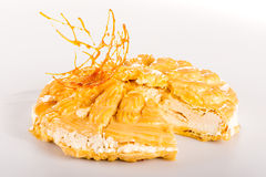 Guarnizione dolce del dessert cremoso della caramella Immagini Stock