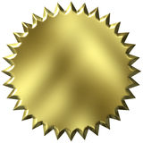 guarnizione dorata 3D Fotografie Stock