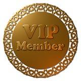 Guarnizione dorata di VIP con il bordo operato Fotografie Stock Libere da Diritti