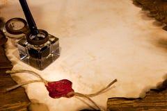 Guarnizione ed inchiostro della cera fotografie stock