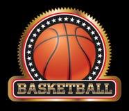 Guarnizione o emblema di pallacanestro Fotografia Stock