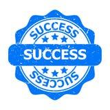 Guarnizione o icona blu di successo Fotografia Stock