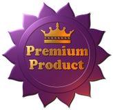 guarnizione premio porpora del prodotto 3D con la corona Immagini Stock