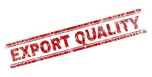 Guarnizione strutturata del marchio di qualità dell'ESPORTAZIONE di lerciume illustrazione vettoriale