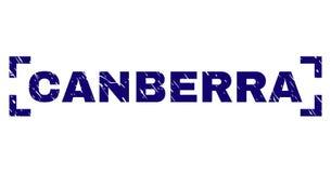 Guarnizione strutturata graffiata del bollo di CANBERRA fra gli angoli illustrazione di stock