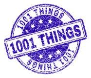 Guarnizione strutturata graffiata del bollo di 1001 COSA royalty illustrazione gratis
