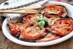 Guarnizione vegetariana saporita della pizza Immagini Stock