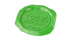 Guarnizione verde naturale della cera di cento per cento illustrazione 3D Fotografia Stock Libera da Diritti
