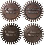 Guarnizioni del membro del platino Fotografia Stock