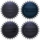 Guarnizioni del membro del platino messe Immagine Stock