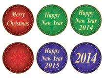 Guarnizioni del nuovo anno e di Natale Fotografia Stock