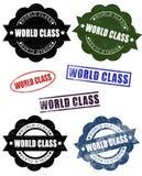 Guarnizioni del timbro di gomma della classe del mondo di lerciume illustrazione di stock