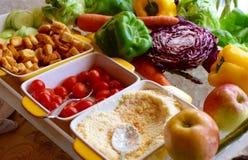 Guarnizioni dell'insalata Fotografia Stock