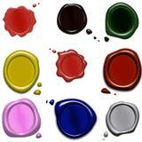 guarnizioni della cera di colore Fotografia Stock